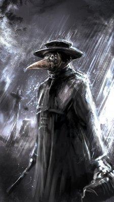 Черный плащ - защищал чумного доктора от чумы